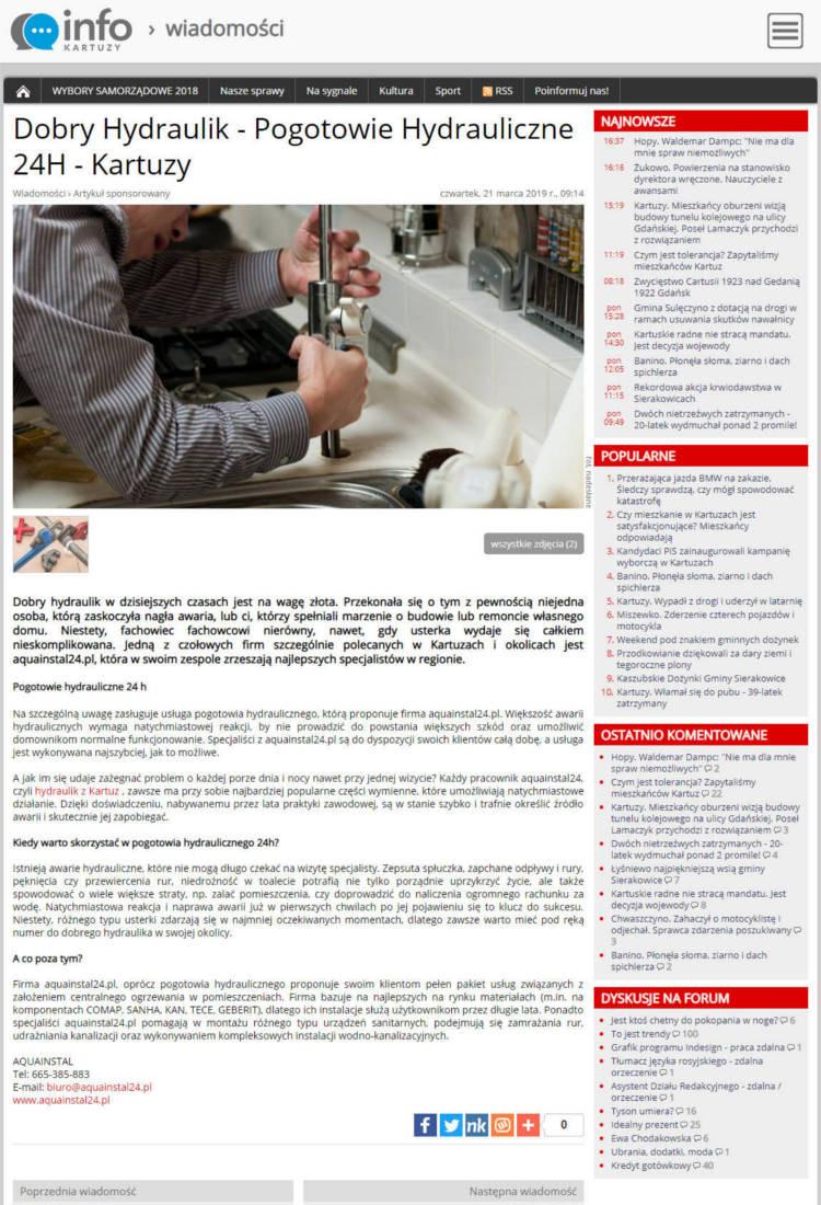 artykuł sponsorowany - kartuzy.info